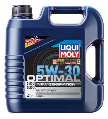 как выглядит liqui moly 5w-30 optimal new generation sn plus 4л (hc-синт.мотор.масло) на фото